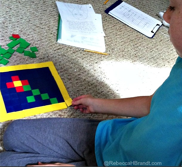 Learning patterns in math with tiles